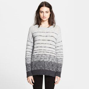 Vince Textured Striped Wool Sweater - size Medium